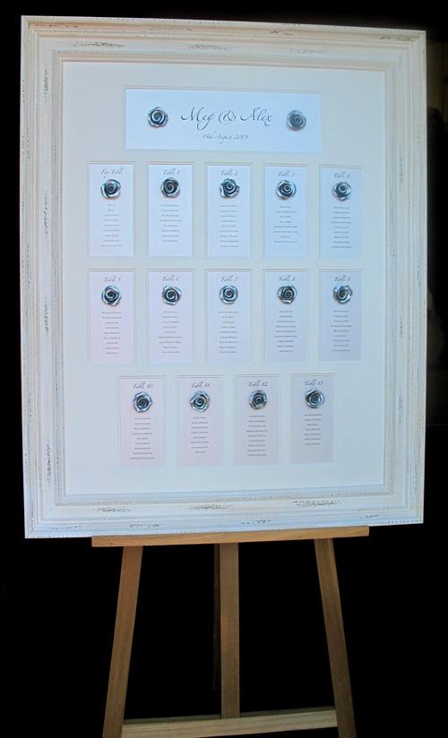 Displaying your table plan on an easel is ideal as the plan can be displayed at just the right position for your guests to consult it